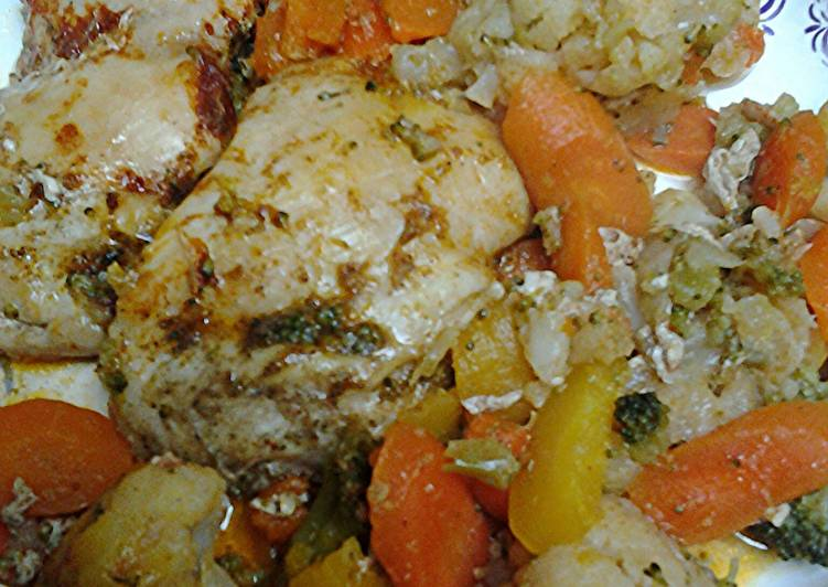 Roasted Buttery Chicken and Vegetables