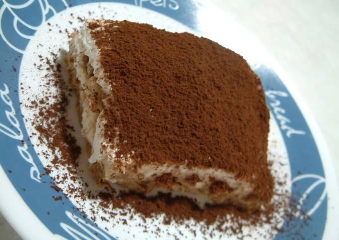 Recipe: Tasty Easy & One-bowl Tiramisu