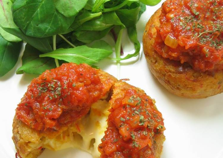 """""""Crab"""" Cakes with Tuna and Cheese"""