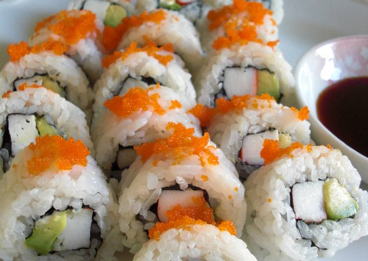Recipe of Homemade Restaurant-style California Roll