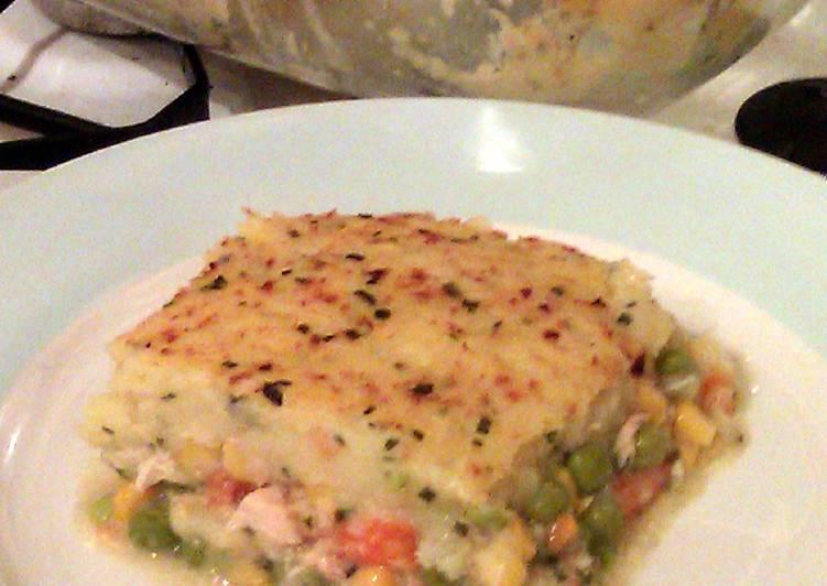 Vickys Creamy Vegetable Pie, GF DF EF SF NF