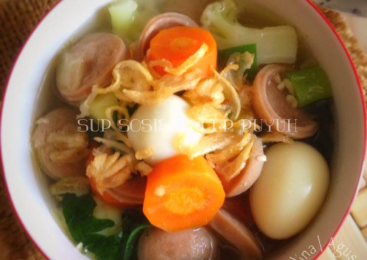 Sup Sosis Telur Puyuh