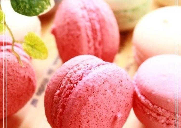 Recipe of Favorite My Original Strawberry Macarons