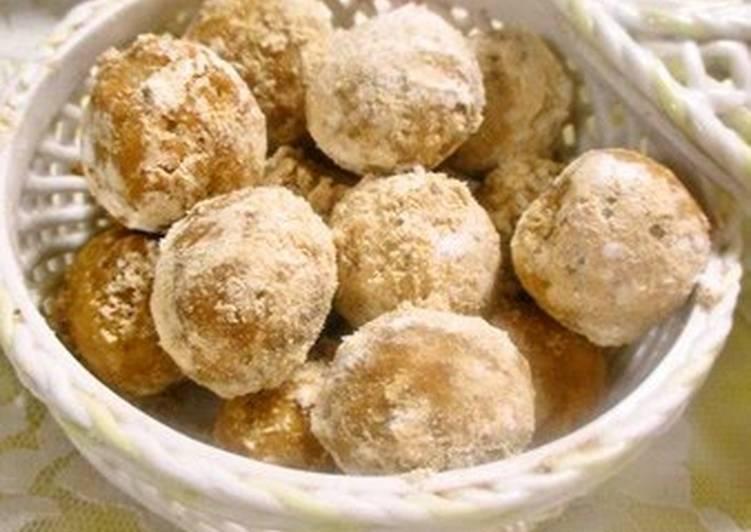 Okara, Oatmeal & Kinako Cookie Balls with Honey - Laurie G Edwards