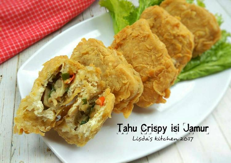 Resep Tahu Crispy Isi Jamur Oleh Lisda Trijianto Cookpad