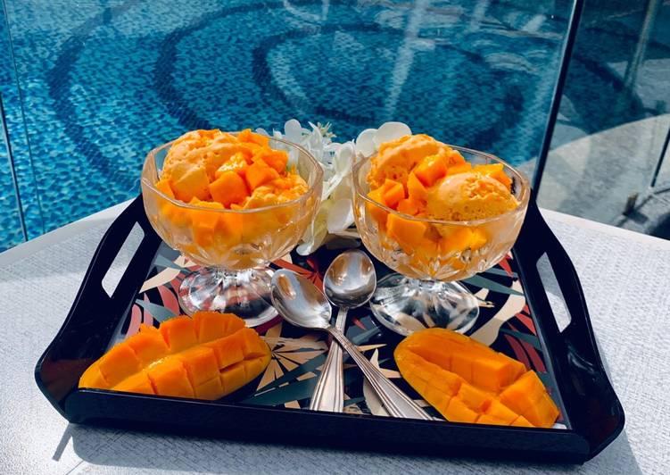 Easiest Way to Make Yummy Mango pulp gelato🍨