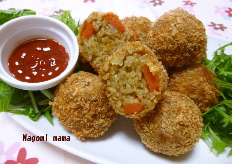 Step-by-Step Guide to Prepare Super Quick Homemade Curry Remix Rice Croquettes