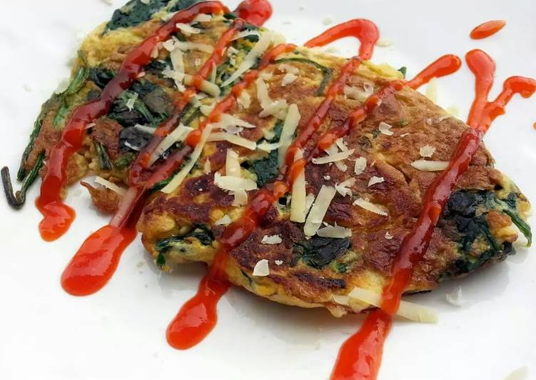 Recipe: Delicious Spinach Omelette