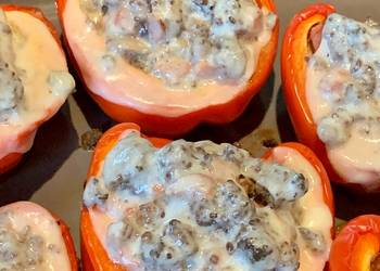 How to Make Delicious Ground beef stuffed peppers