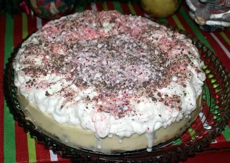 Peppermint Bark Cheesecake
