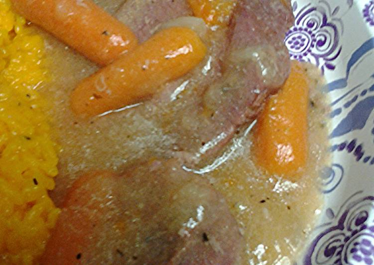 Step-by-Step Guide to Make Favorite Cornbeef in carrot and onion gravy
