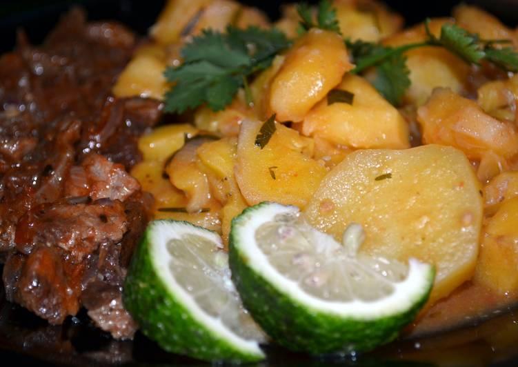 Banana Plantain with Aliya(Dry Fry Beef)