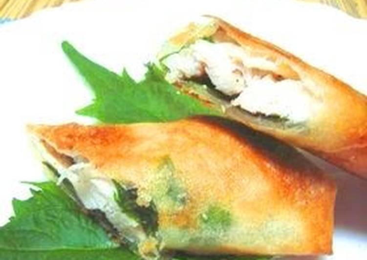 Your Overall Health Can Be Impacted By The Foods You Choose To Eat Chicken Spring Rolls with Salt-Cured Plum and Shiso Leaf