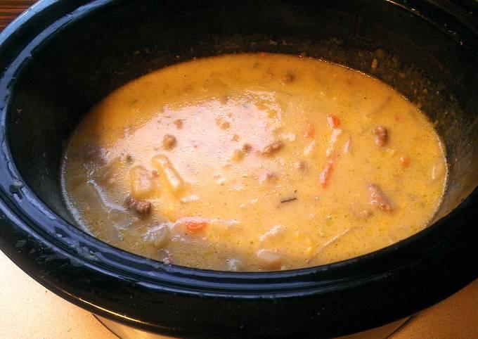 Recipe: Perfect Cheesy Potato Soup