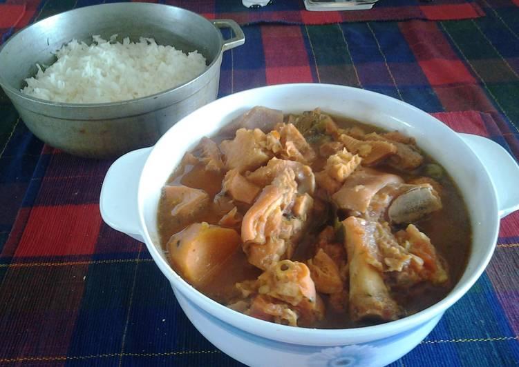 Recipe of Quick Mondongo (tripe soup, menudo)