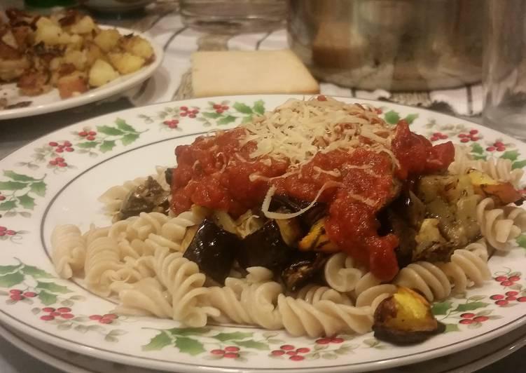 Recipe: Appetizing Roast Eggplant & Squash Fusilli