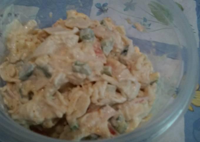 Cheesy Jalepeno Crab Salad