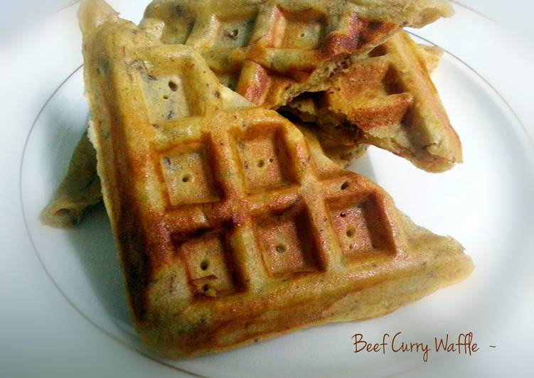 Recipe of Award-winning Beef Curry Waffle