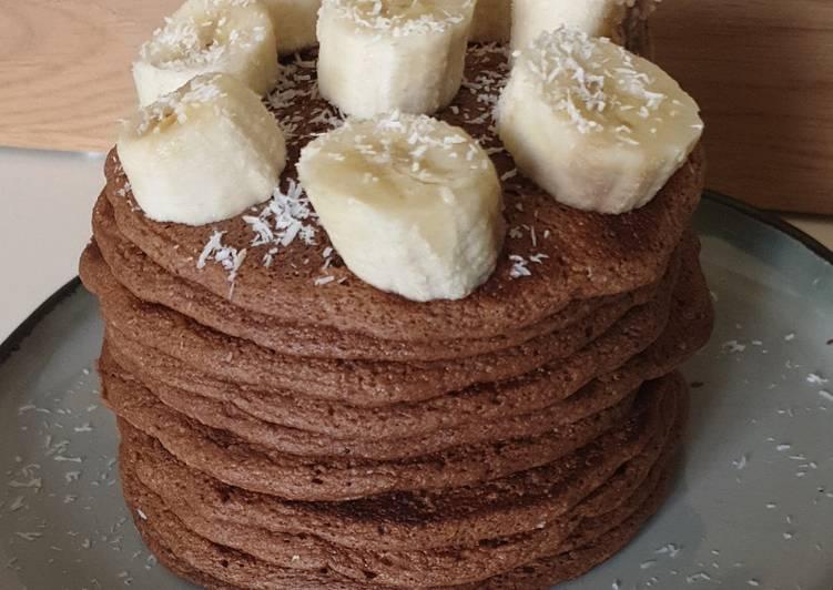 La Délicieuse Recette du Pancakes tout moelleux cacao ss MG