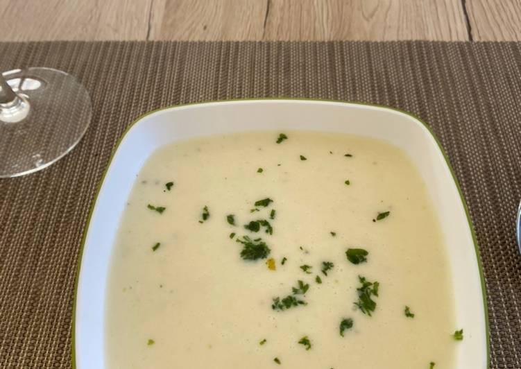 Recipe of Super Quick Homemade White asparagus soup 🤍🍜
