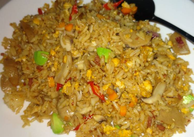 Nasi goreng jamur petai #3