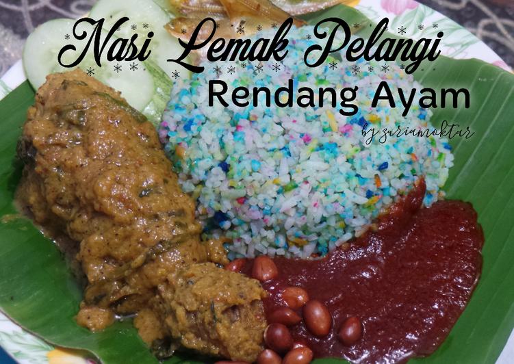 Nasi Lemak Pelangi Rendang Ayam - velavinkabakery.com