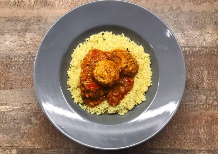 Comment faire Faire Appétissante Keftas au poulet sauce cannelle, sésame et poivrons 😍😋👍