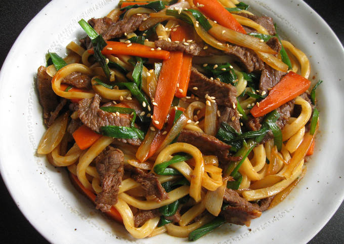 Spicy Beef Udon with Gochujang
