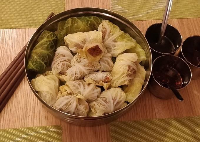 Home recipe cabbage wraps