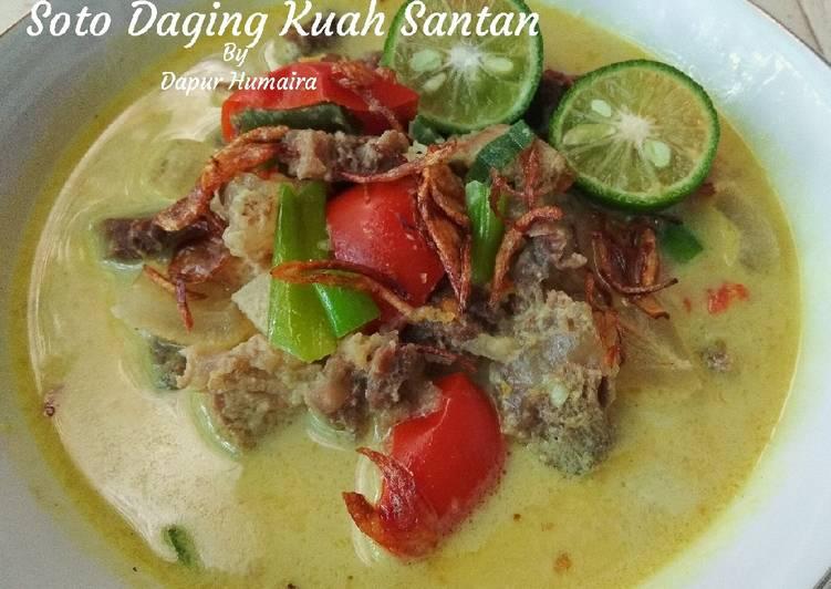 Soto Daging + Kikil (Kuah Santan)