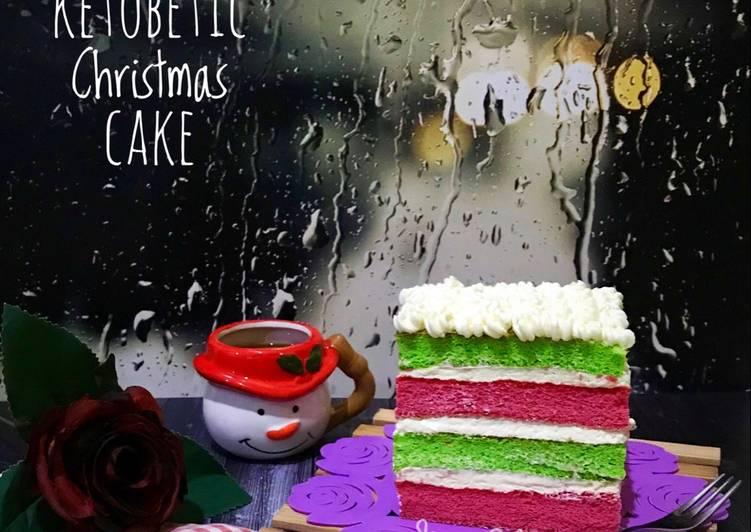 Cara Gampang Membuat Ketobetic Christmas Cake -Keto, Enak Banget