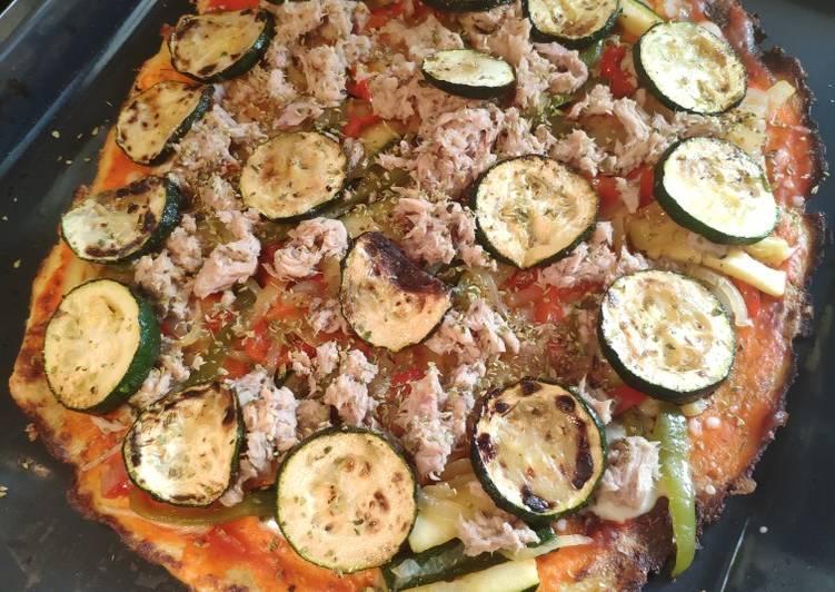 Pizza de coliflor o colipizza