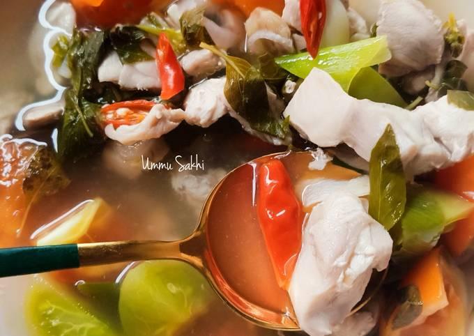 Fillet Paha Kuah Asam Pedas (menu defisit kalori) no oil