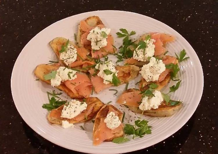 Simple Way to Make Any-night-of-the-week Smoked Salmon Potato Cheese Crisps