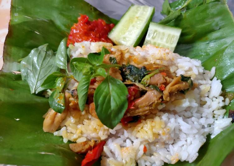 Resep Nasi Bakar Ayam Kemangi 🌿☘️🍀 yang Enak