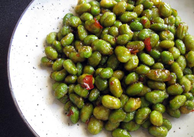 Scrumptious Fried Edamame (Soy Beans)