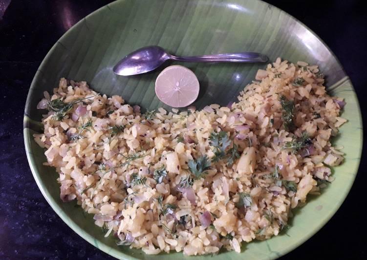 Onion and Potato Poha