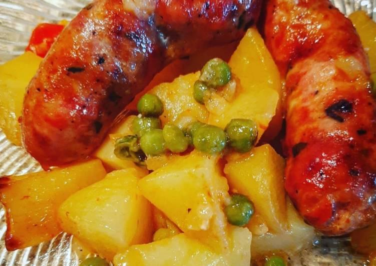 Ricetta Salsiccia con patate al forno