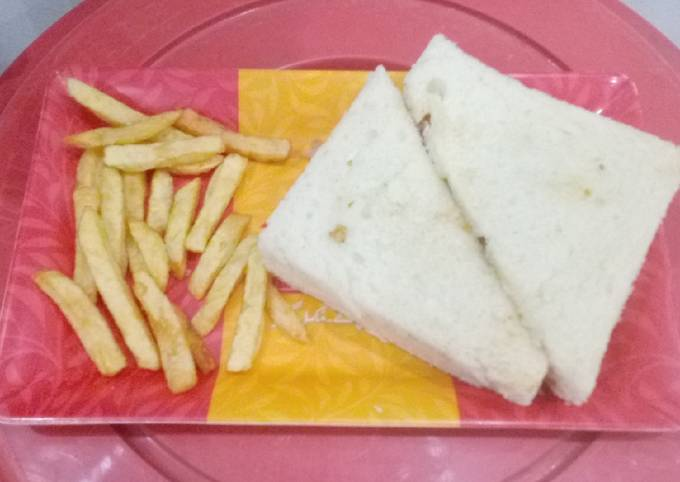 🥪CHICKEN PARMESAN SANDWICH 🥪 WITH 🍟FRENCH FRIES 🍟