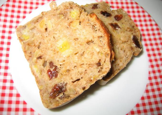 Easiest Way to Cook Yummy Oil-, Egg- and Sugar-Free Easy Banana Bread
