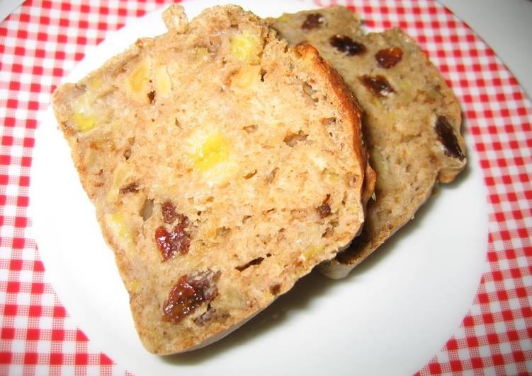 Oil-, Egg- and Sugar-Free Easy Banana Bread