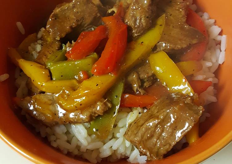 Information on How to Boost Your Mood with Food Peppered Steak and Rice