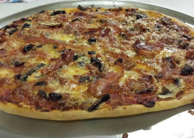 Pizza - ham & mushroom