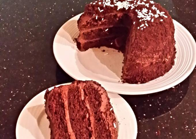 Chocolate Crunch Layer Cake