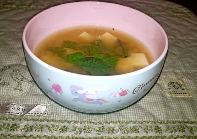 Refreshing Miso Soup with Tofu and Shiso Leaves, Some Foods That Are Helpful To Your Heart