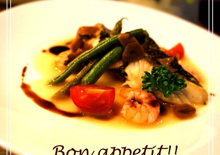 Sea Bass Poêlé Balsamic Flavor
