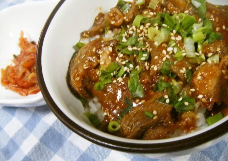Kalbi Beef Rice Bowl