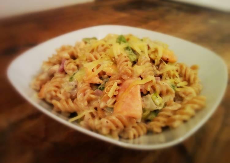 Easiest Way to Prepare Most Popular Smoked Salmon Pasta