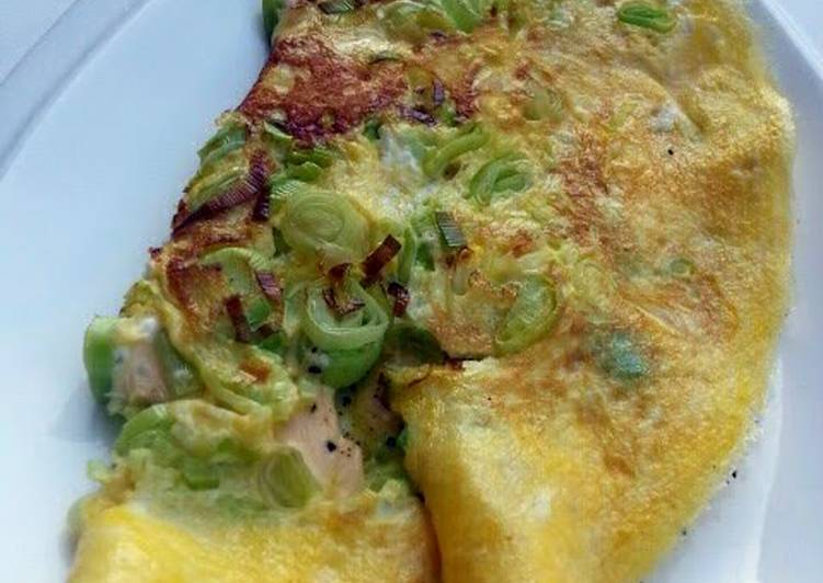 Recipe: Tasty Leek Omelette