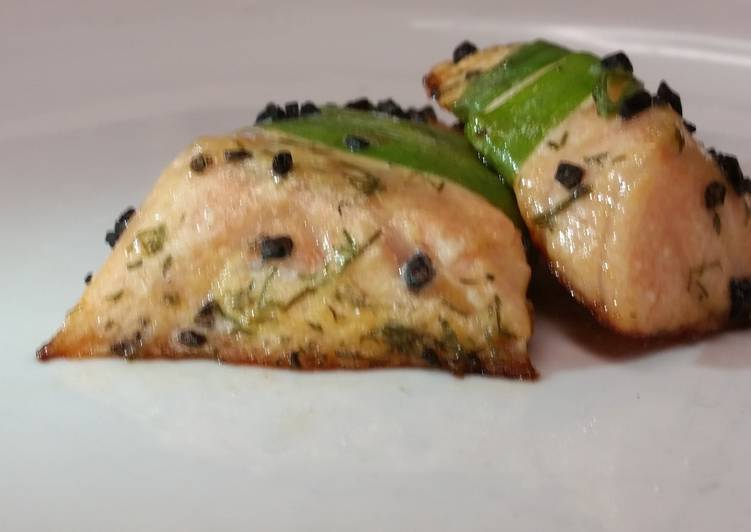 Going Green for Better Health By Dining Superfoods leek wrapped salmon w black hawaiian sea salt